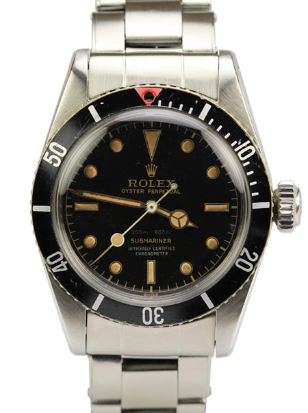 Grail 1950s Rolex James Bond Submariner Ref. 6538