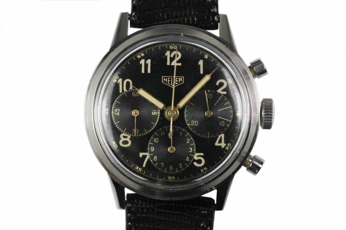 79918bec76c 1955 Heuer Vintage Chronograph Watch For Sale - Mens Vintage Chronograph