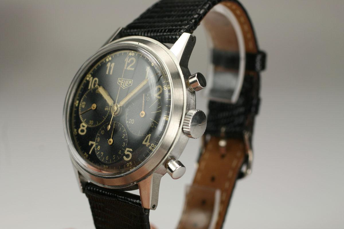 Hublot Watch Price >> 1955 Heuer Vintage Chronograph Watch For Sale - Mens Vintage Chronograph