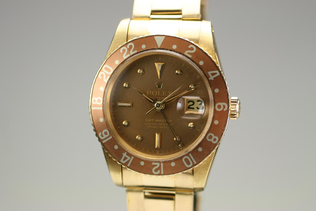 1950 rolex yellow gold gmt reference 6542 watch for sale