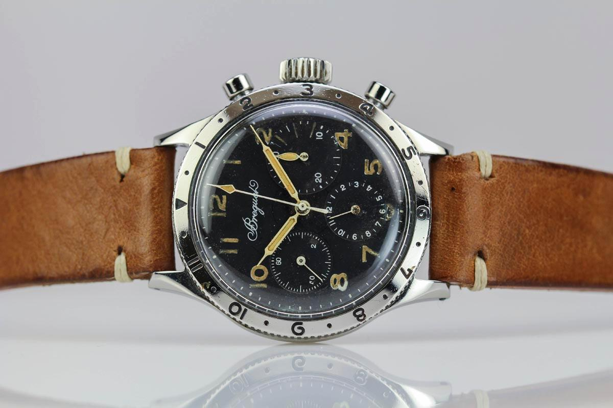 1954 Breguet Type 20 Watch For Sale - Mens Vintage Chronograph