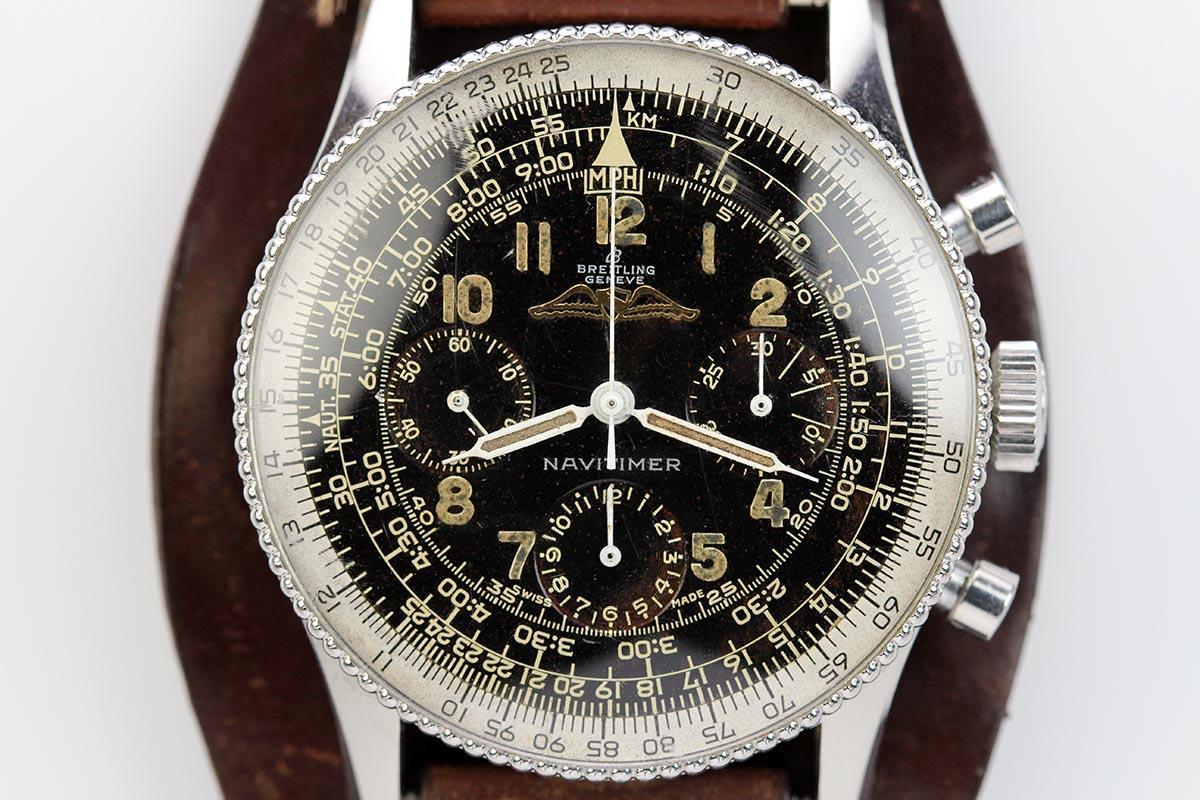 1959 Breitling Navitimer Ref 806 Beaded Bezel Watch For Sale Mens Vintage Chronograph