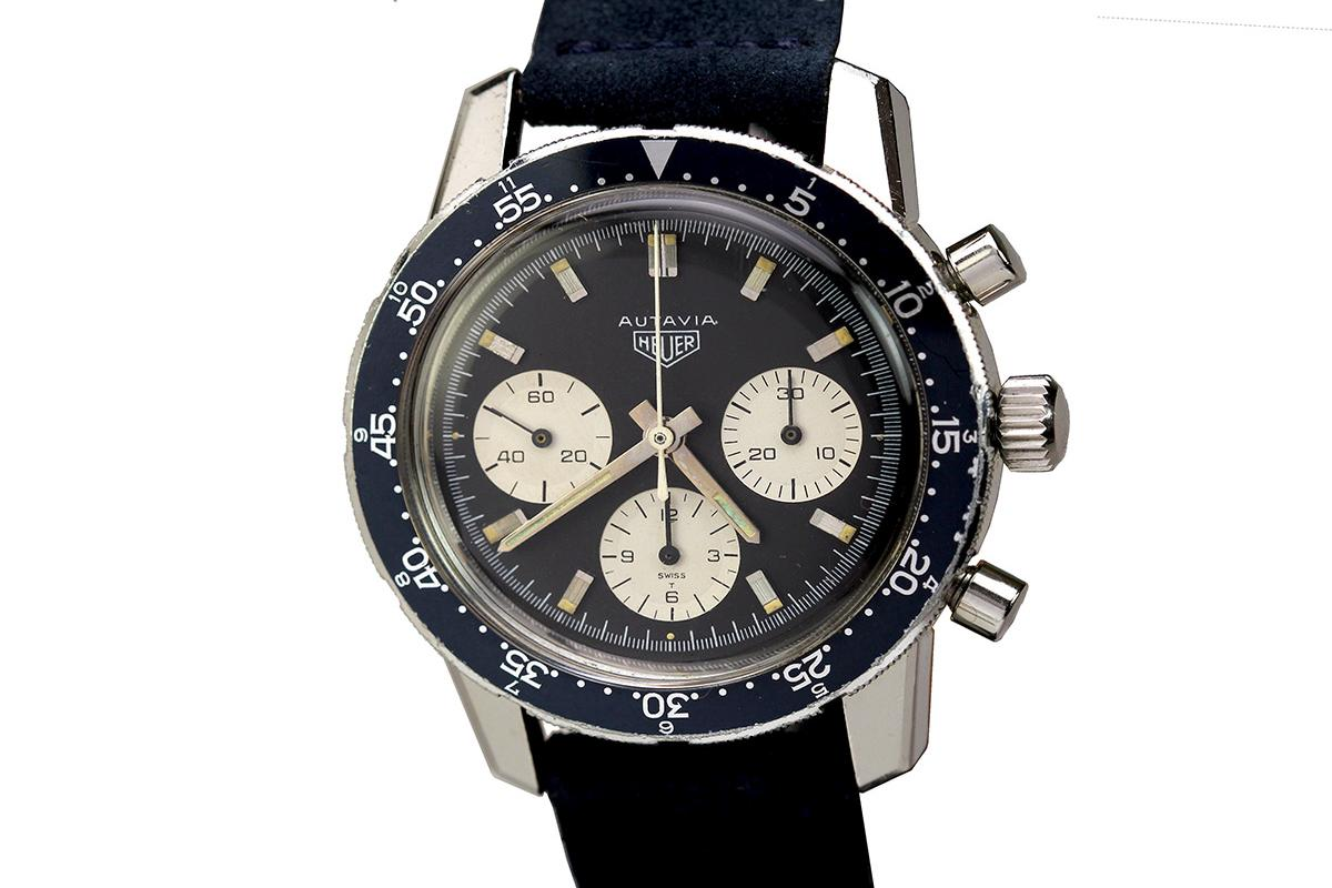 1960 Heuer Autavia Ref 2446c Watch For Sale Mens Vintage Chronograph Bulova 90271 Jam Tangan Pria Silver Prev Next Close