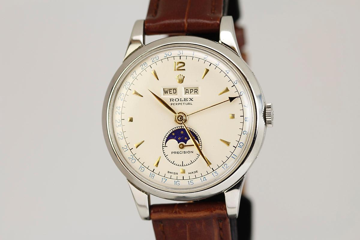 1950 Rolex Triple Date Moon,Phase Ref 8171 Watch For Sale