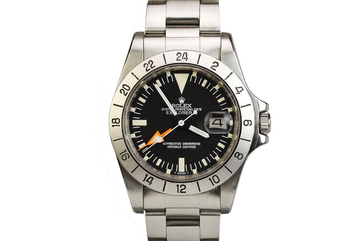 1977 rolex explorer ii steve mcqueen watch for sale mens vintage 24 hour date retro grade for Mcqueen watches