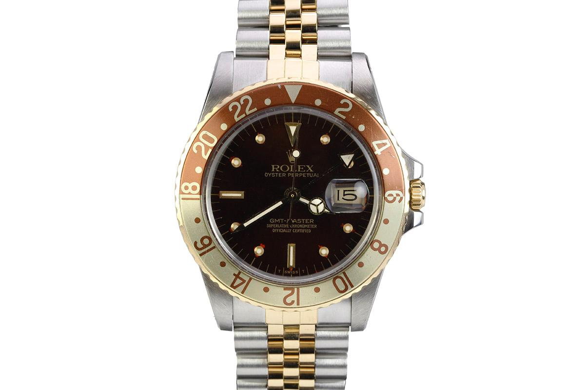 1983 Rolex Quot Root Beer Quot Gmt Ref 16753 Watch For Sale Mens