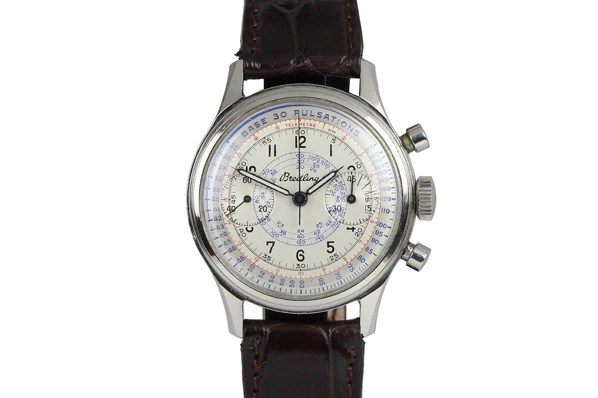 Hublot Watch Price >> 1945 Breitling Chronograph Watch For Sale - Mens Vintage Chronograph