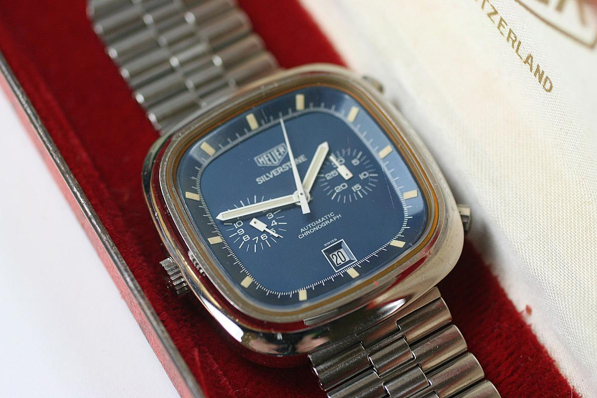 1970 Heuer Silverstone Watch For Sale Mens Vintage Chronograph
