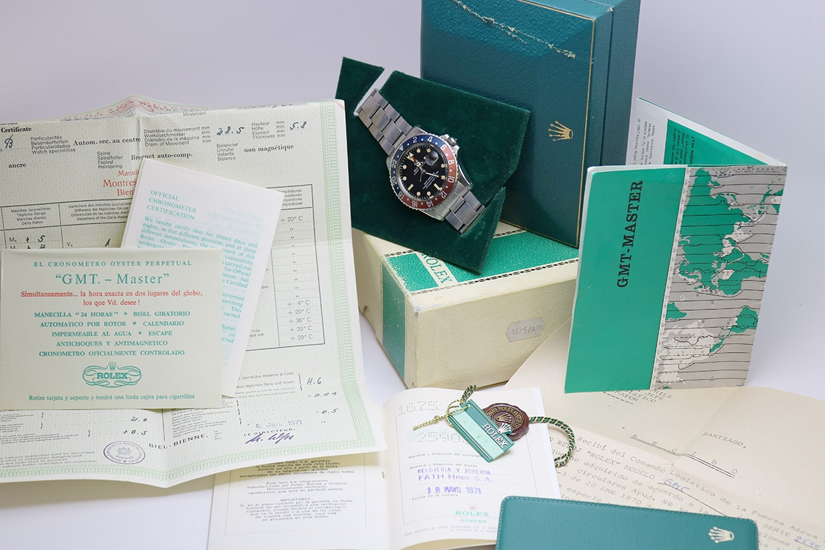 rolex gmt with box and papers