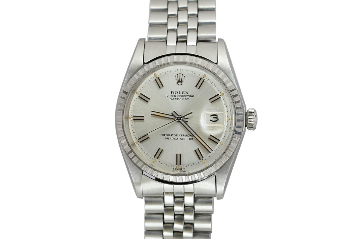 1969 Rolex Datejust Wide Boy Ref 1603 Watch For Sale Mens Vintage Date