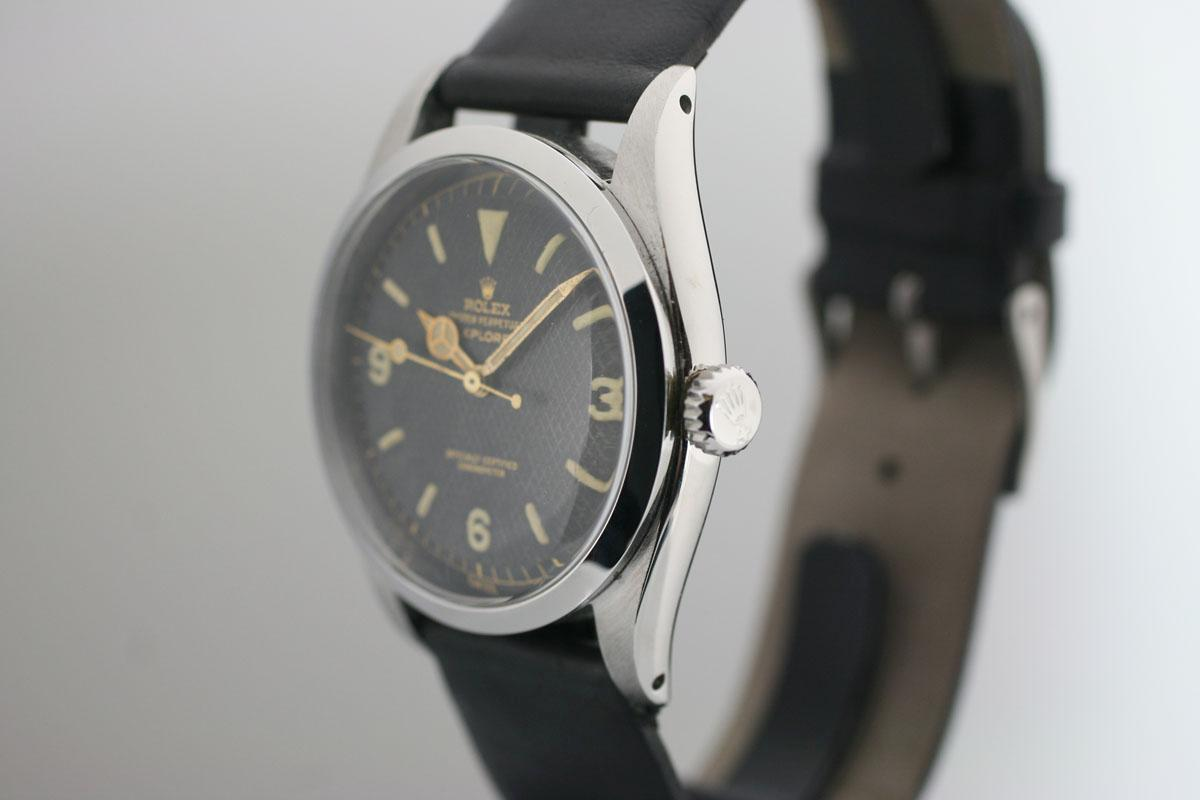 Vintage Watches For Sale >> 1953 Rolex Explorer Ref: 6350 Watch For Sale - Mens Vintage Time only