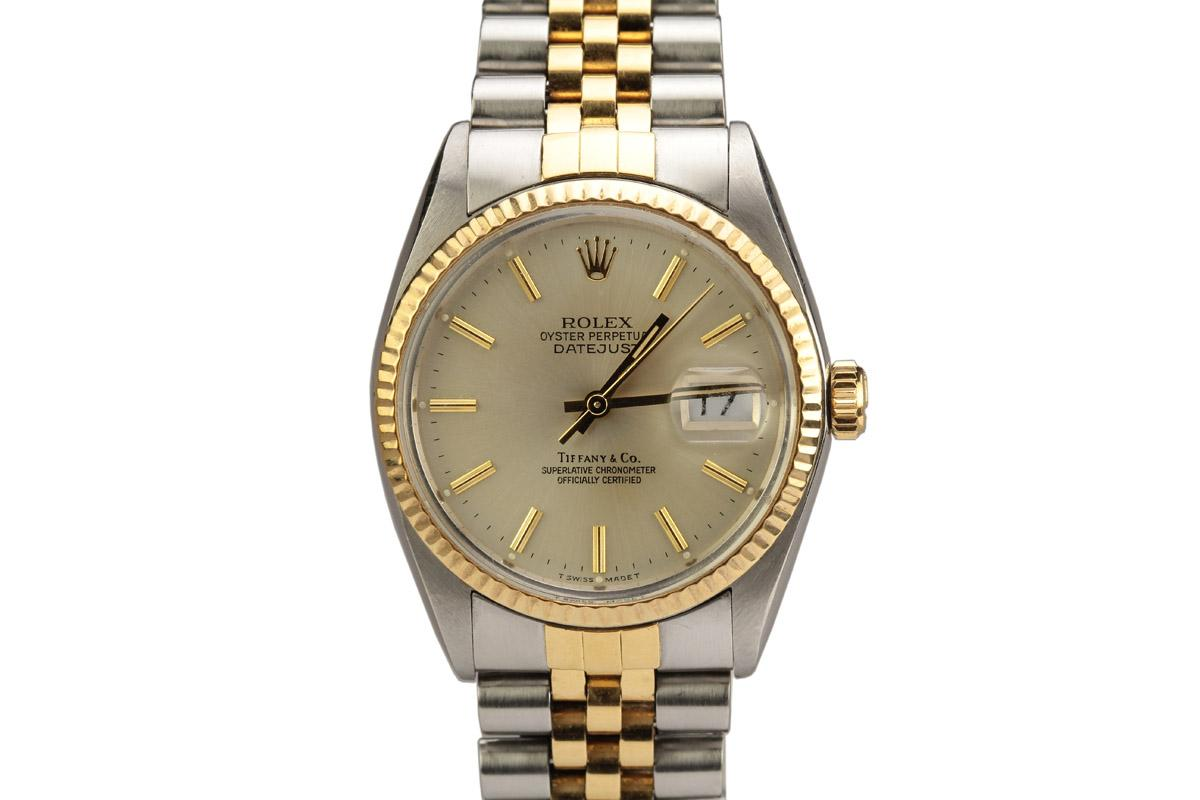 1978 Rolex Datejust Retailed By Tiffany Amp Co Watch For