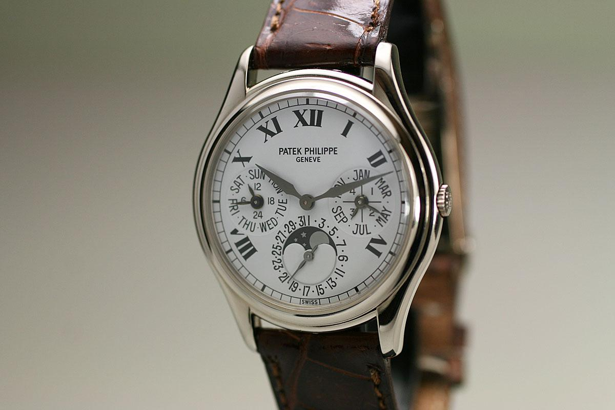 2000 patek philippe perpetual calendar moonphase ref 3940 watch for sale mens modern moonphase for Patek philippe moonphase