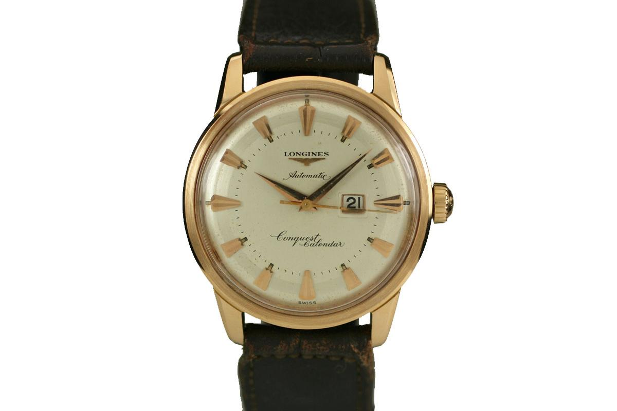 1960 longines conquest calendar watch for sale mens vintage time only date for Calendar watches