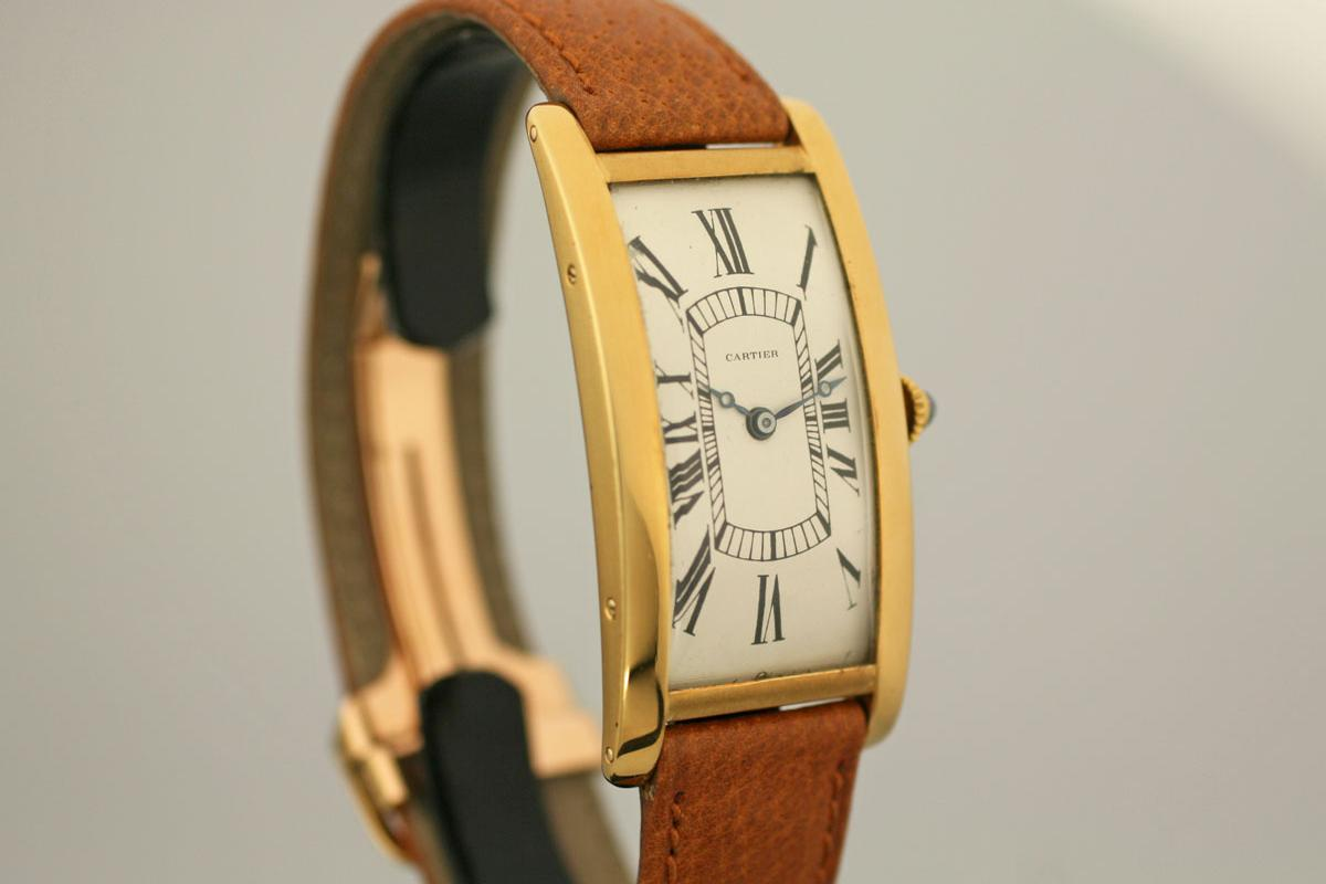 1924 Cartier Tank Cintr 233 E Watch For Sale Unisex Vintage