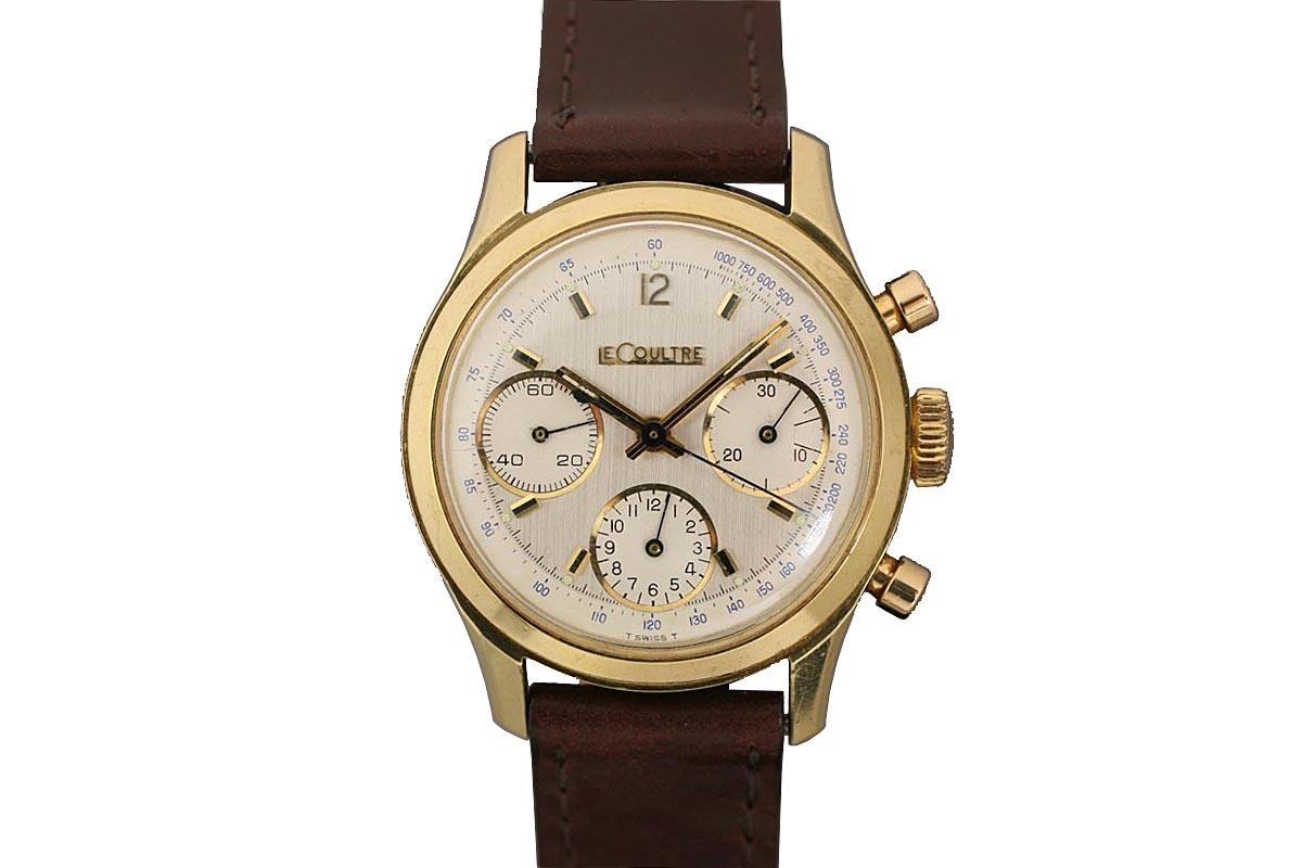 1960 LeCoultre Chronograph Watch For Sale  Mens Vintage Chronograph