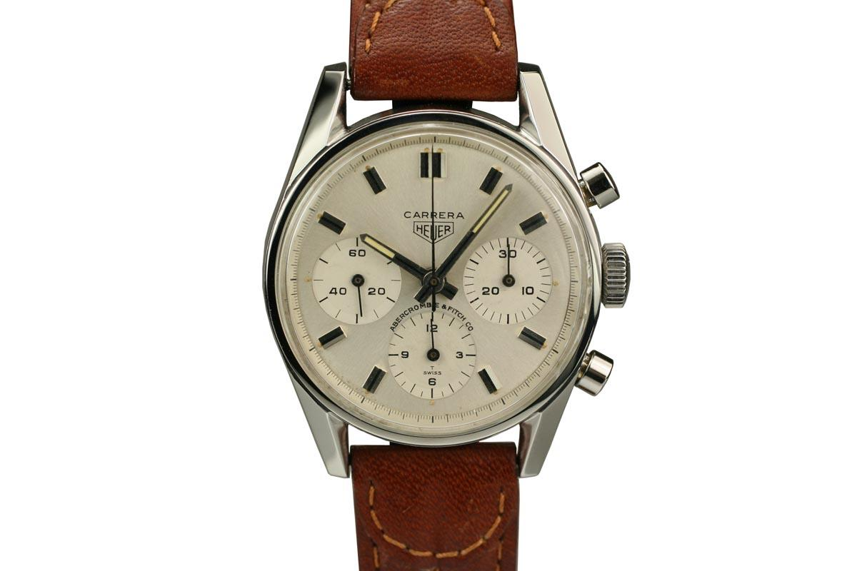 d14cdb31d7b 1960 Heuer Carrera for Abercrombie  Fitch Co. Watch For Sale - Mens ...