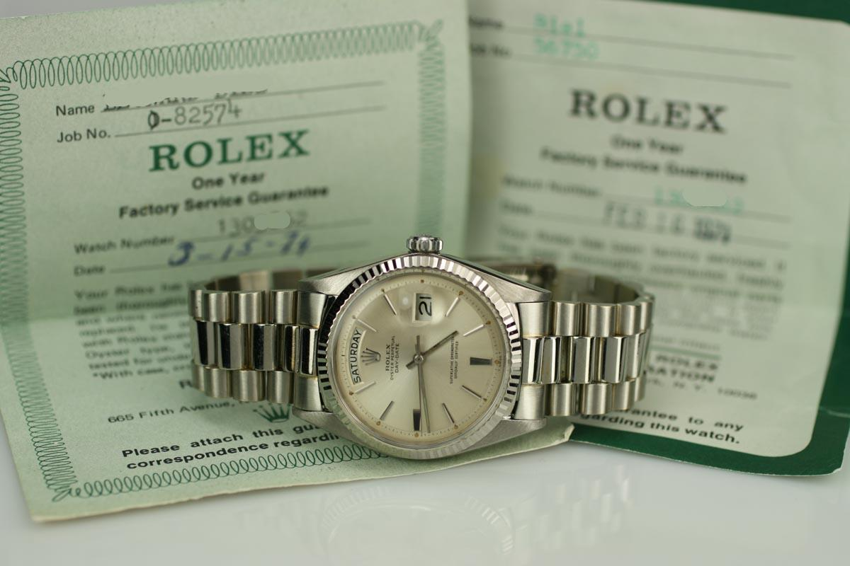 1966 Rolex Day Date Presidential Ref 1803 Watch For Sale