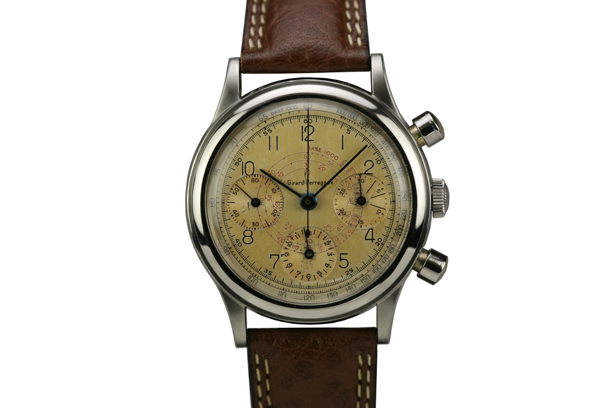 1950 girard perregaux chronograph watch for sale mens vintage chronograph for Girard perregaux