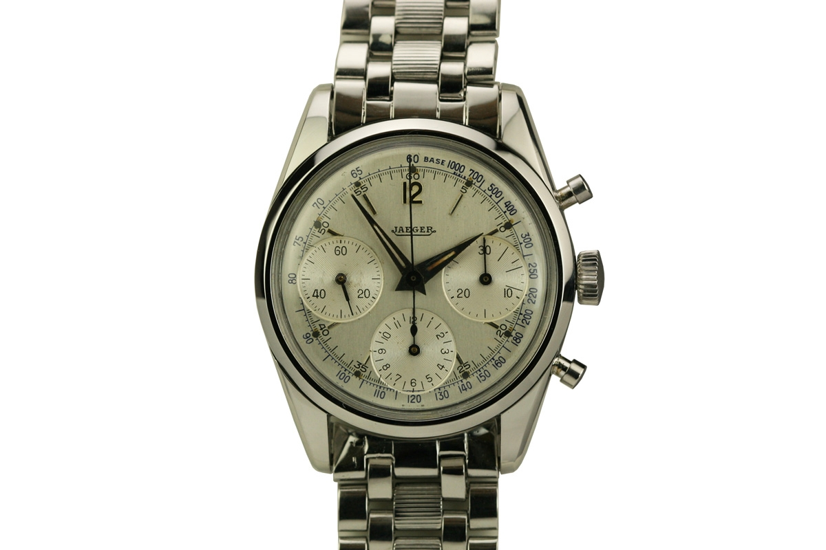 1960 Jaeger Chronograph Watch For Sale  Mens Vintage Chronograph