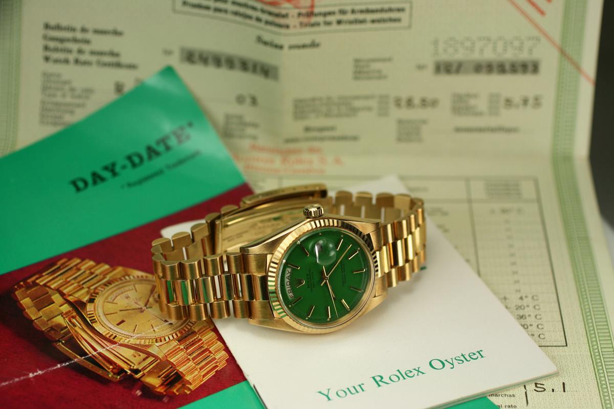 1968 Rolex Day Date Green Stella Dial Presidential Ref