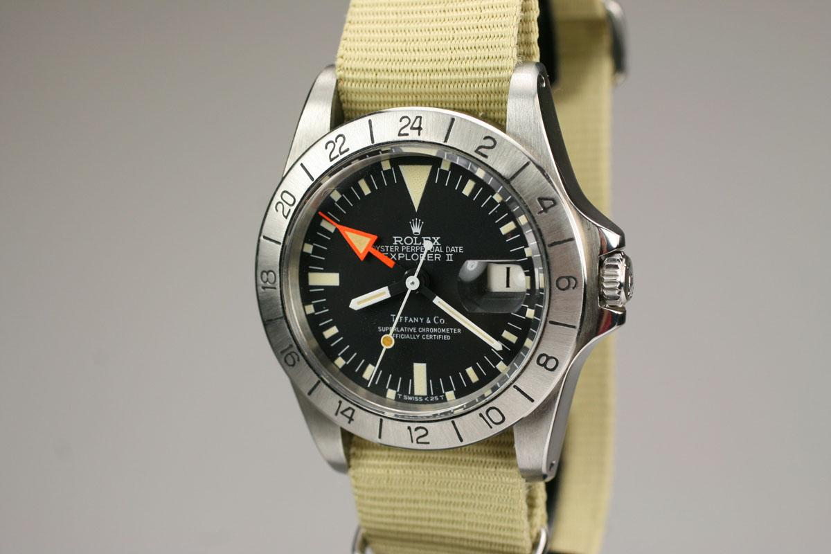 Hublot Watch Price >> 1970 Rolex Explorer II retailed by Tiffany & Co. Ref 1655 Watch For Sale - Mens Vintage Time ...