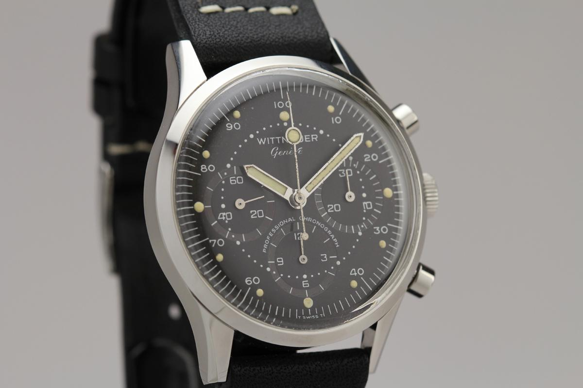 57a3ada6f53a 1960 Wittnauer Professional Chronograph circa 1960s Watch For Sale ...