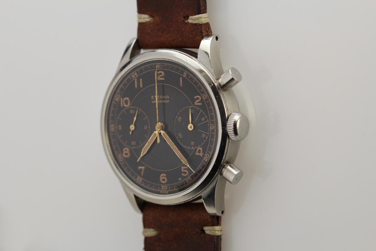 Vintage Tudor Watches >> 1950 Eterna Chronograph Watch For Sale - Mens Vintage Chronograph
