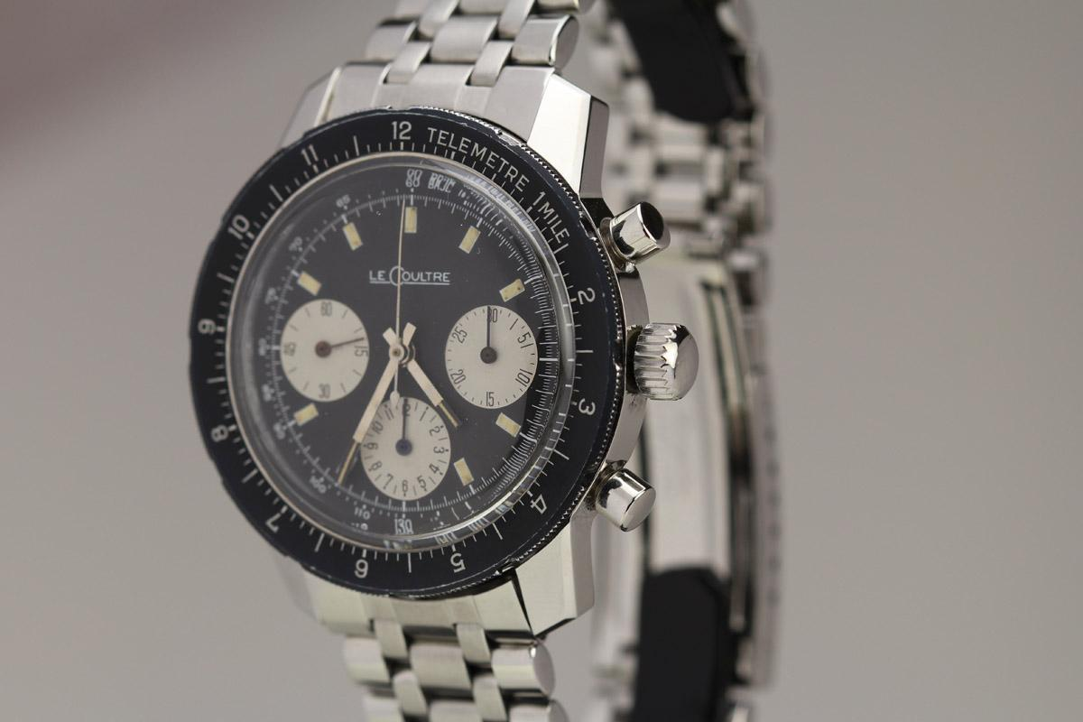 1960 lecoultre shark watch for sale mens vintage chronograph for Lecoultre watches