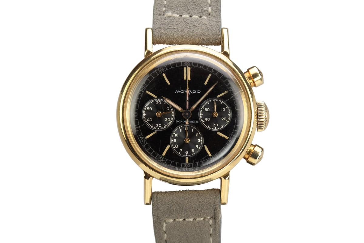 1940 movado non magnetic chronograph watch for sale mens vintage chronograph for Magnetic watches