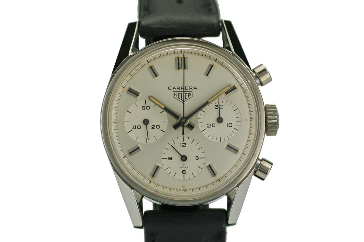1970 Vintage Heuer Carrera Chronograph Nos Watch For Sale