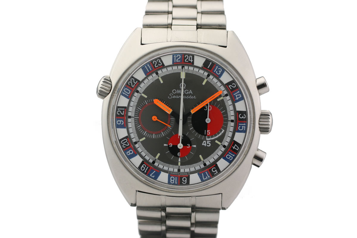 1969 Omega Seamaster Chronograph Soccertimer Watch For Sale Mens