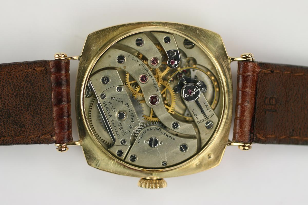 1920 patek philippe cushion shaped watch for sale