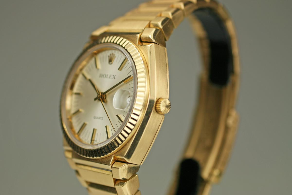 5db293d46e102 1970 Rolex Oyster Quartz Watch For Sale - Mens Vintage Time only